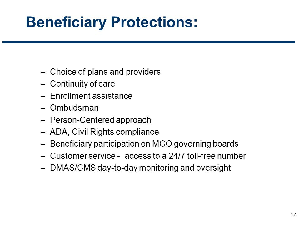 Beneficiary Protections: