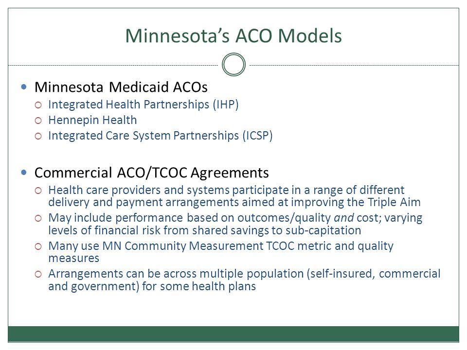 Minnesota's ACO Models