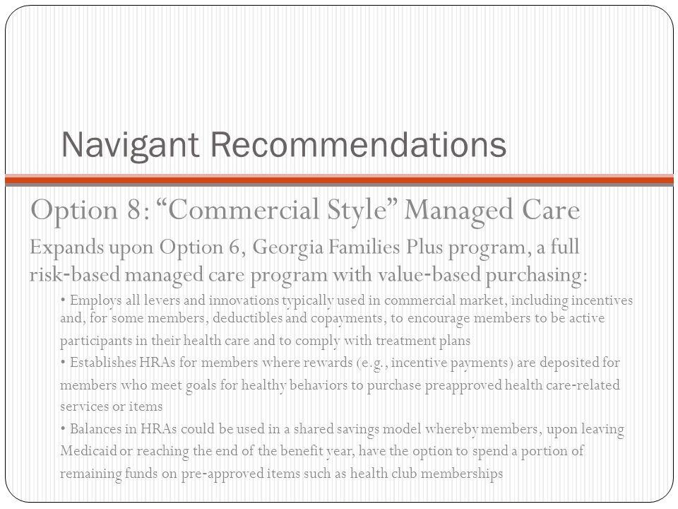 Navigant Recommendations