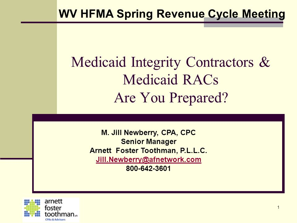 Medicaid Integrity Contractors & Medicaid RACs Are You Prepared