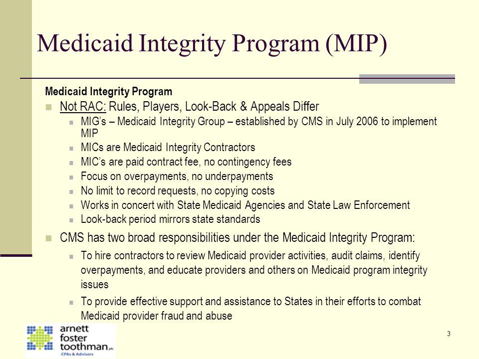 Medicaid Integrity Program (MIP)