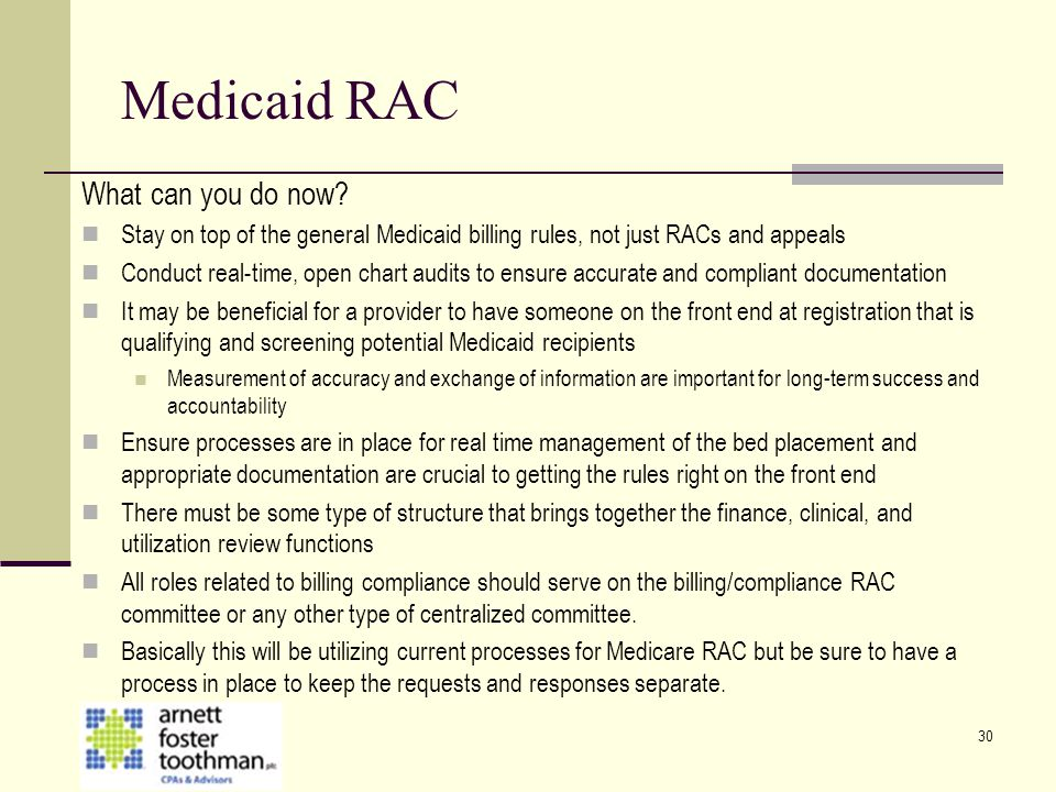 Medicaid RAC What can you do now