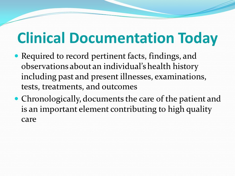 Clinical Documentation Today