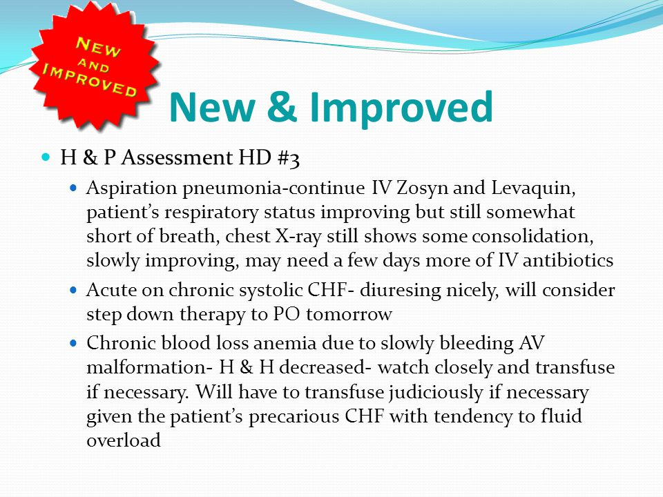New & Improved H & P Assessment HD #3