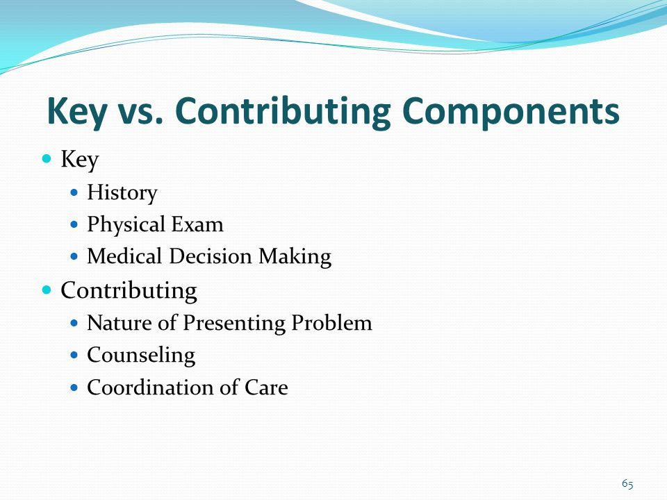 Key vs. Contributing Components