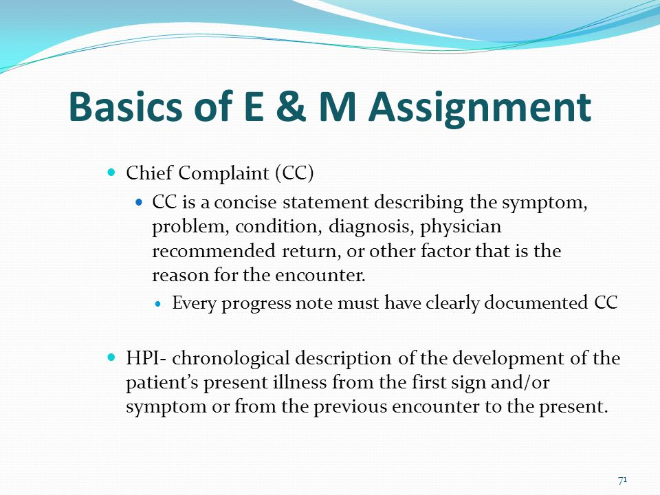 Basics of E & M Assignment