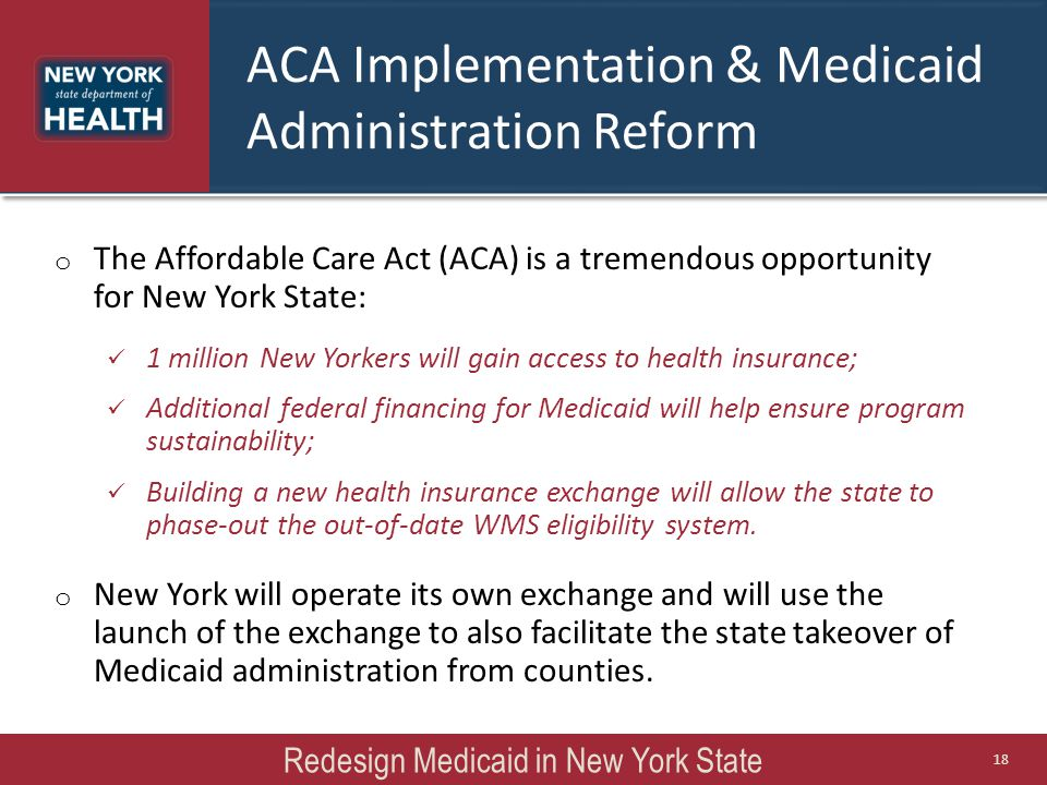 ACA Implementation & Medicaid Administration Reform