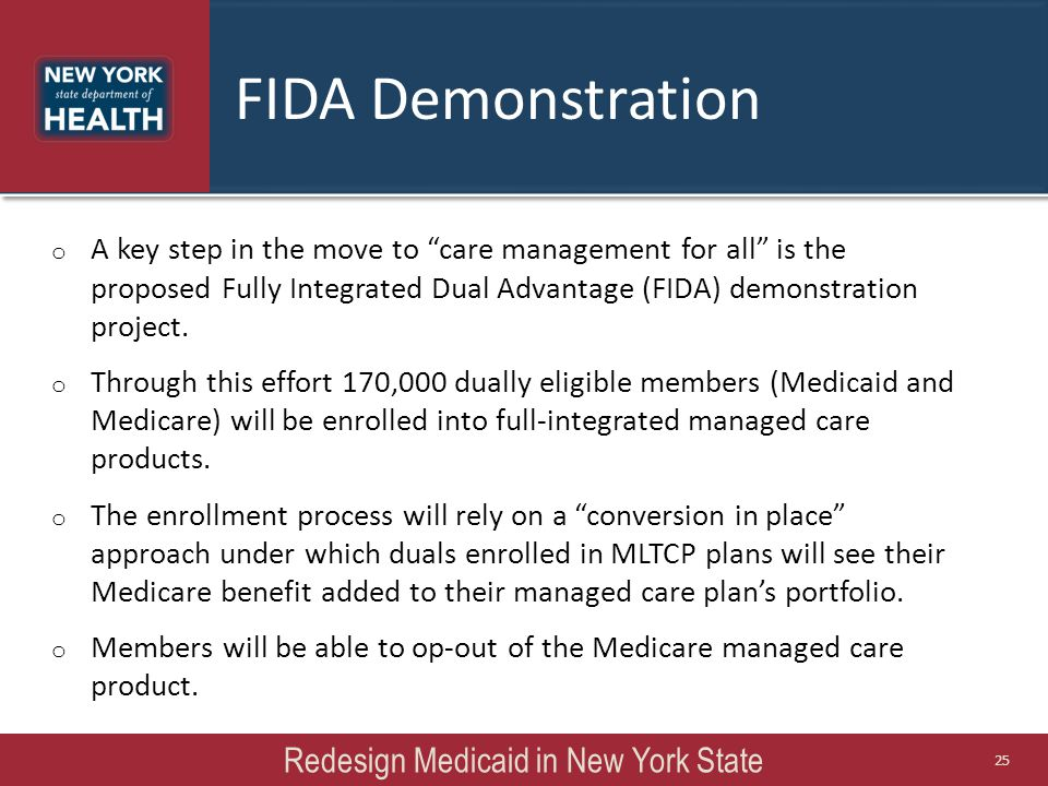 Redesign Medicaid in New York State