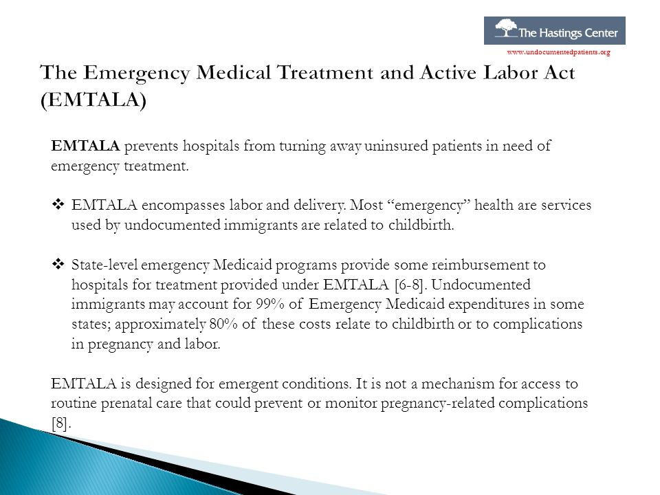 The Emergency Medical Treatment and Active Labor Act (EMTALA)