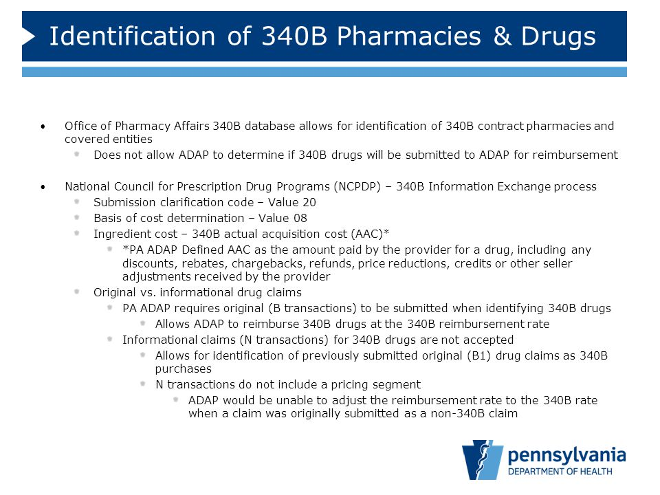 Identification of 340B Pharmacies & Drugs