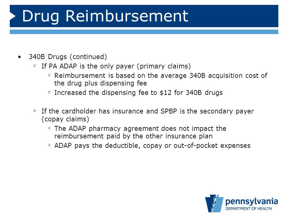 Drug Reimbursement 340B Drugs (continued)