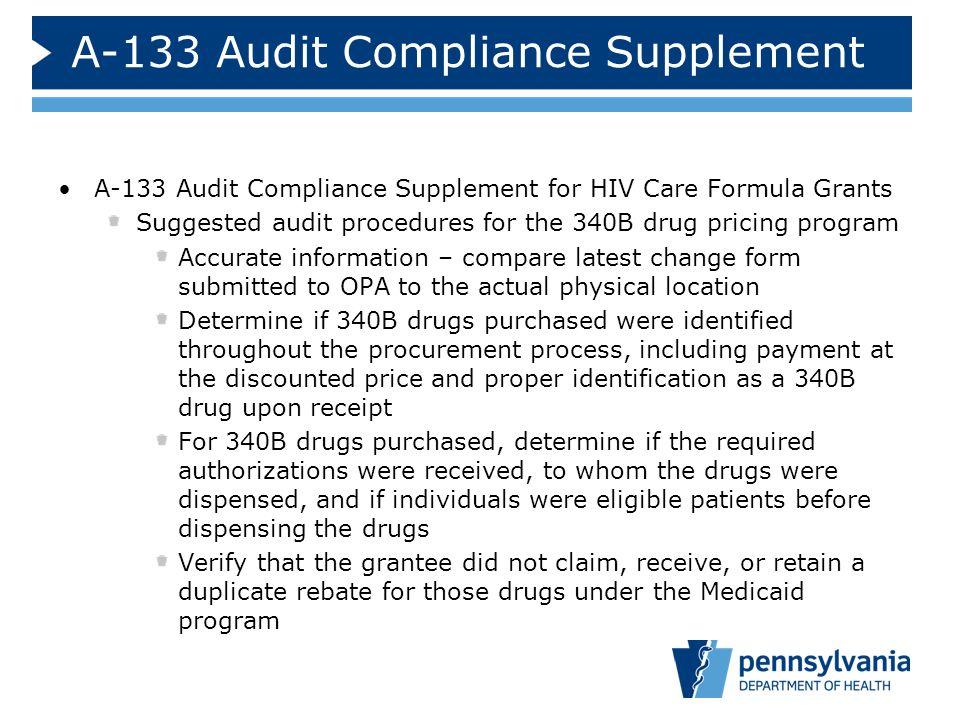 A-133 Audit Compliance Supplement