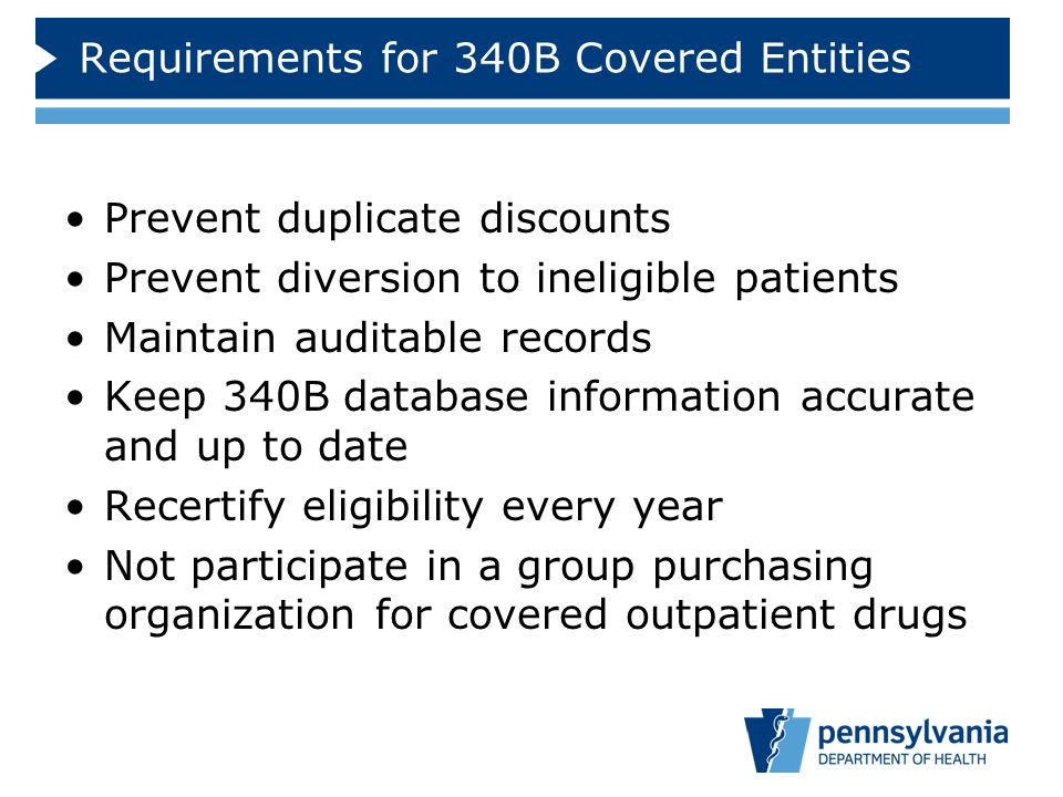 Requirements for 340B Covered Entities