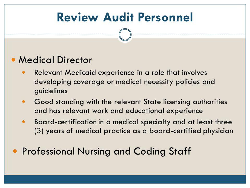 Review Audit Personnel