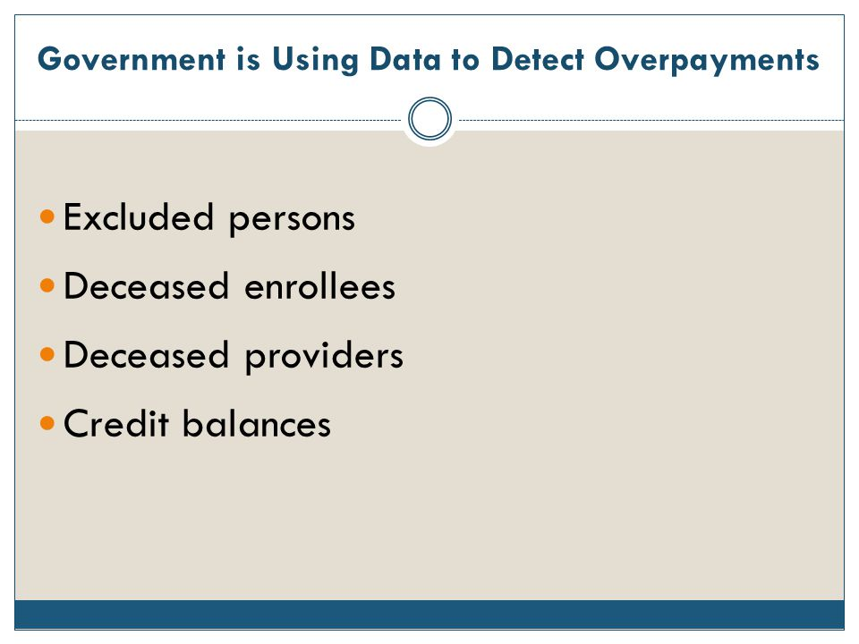Government is Using Data to Detect Overpayments