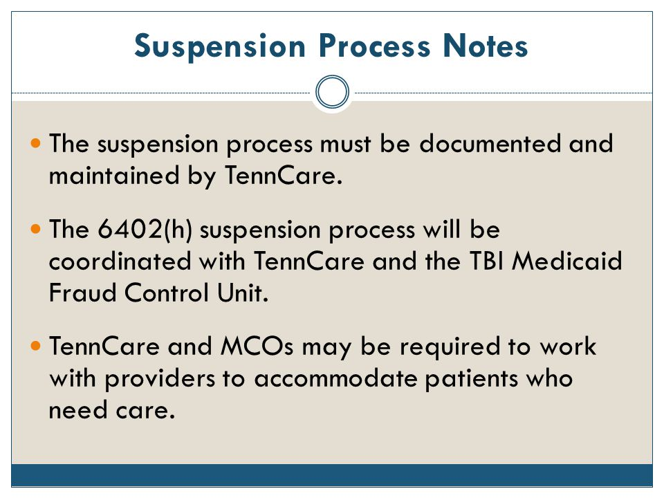 Suspension Process Notes