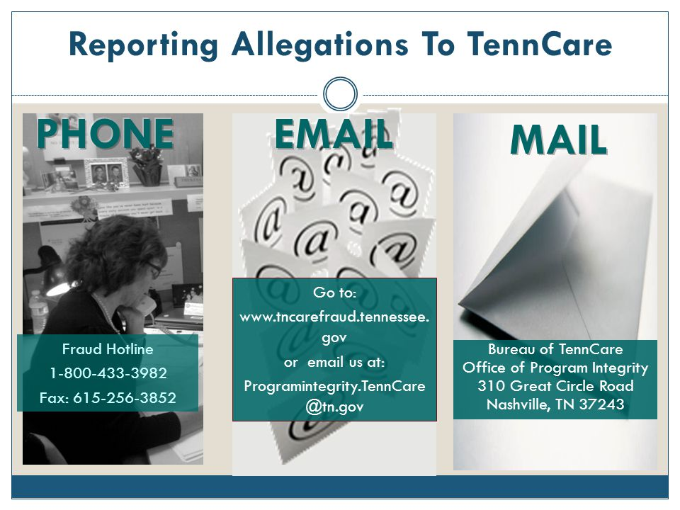 Reporting Allegations To TennCare