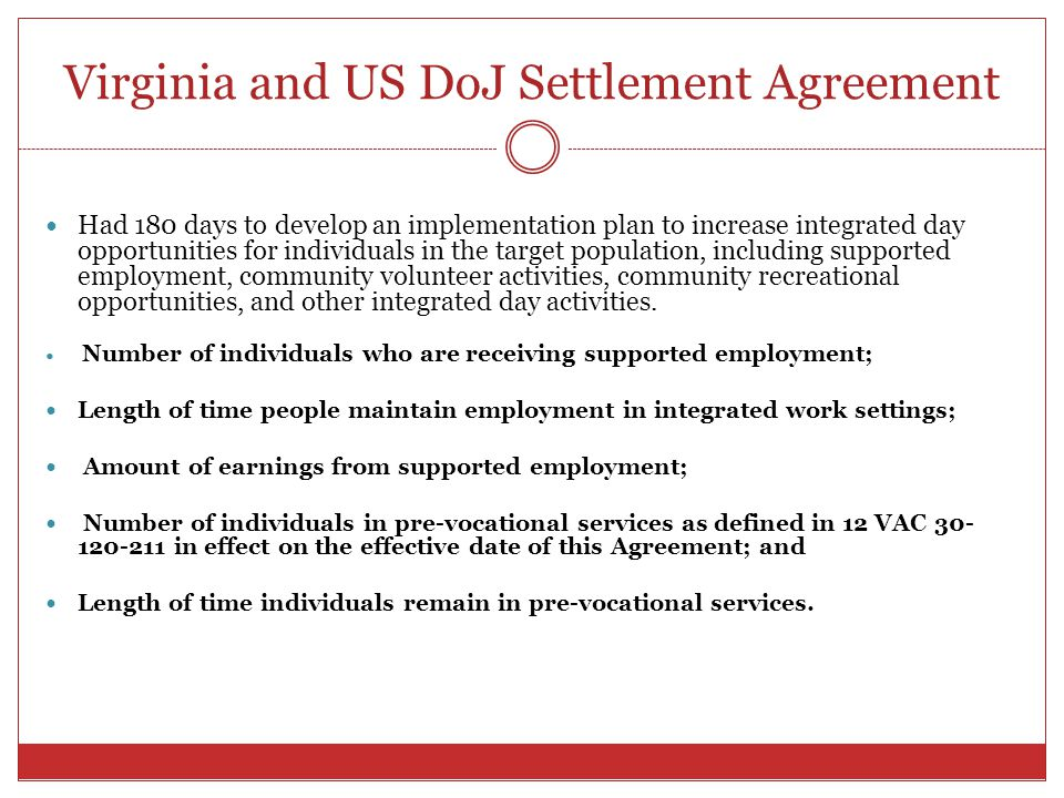 Virginia and US DoJ Settlement Agreement