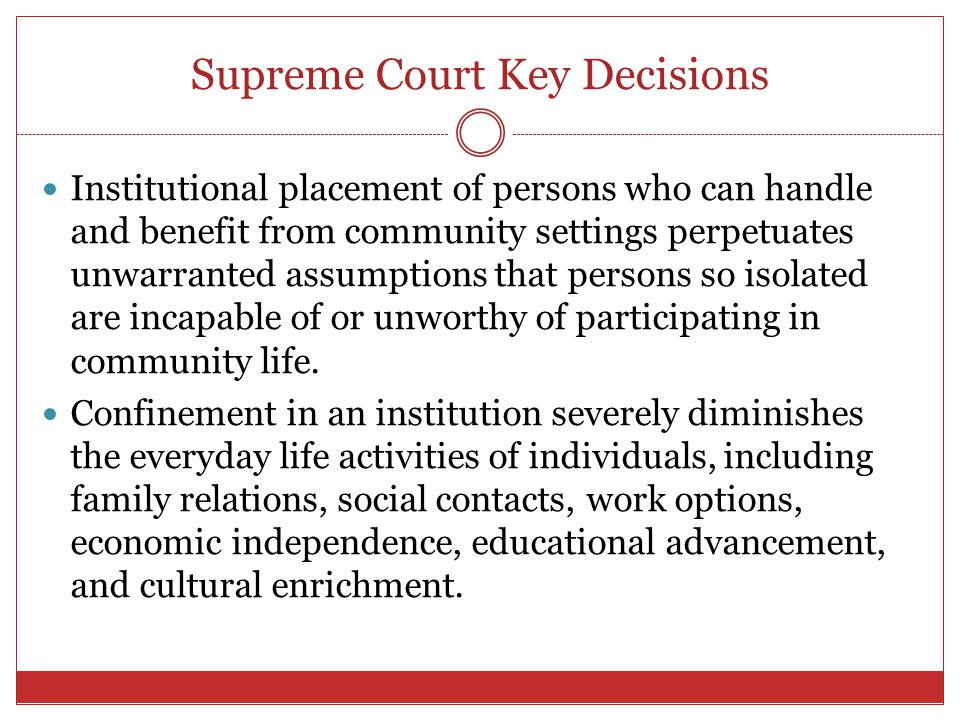 Supreme Court Key Decisions