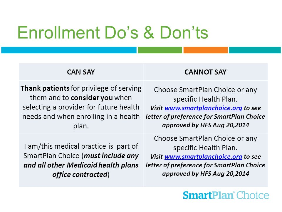 Enrollment Do's & Don'ts