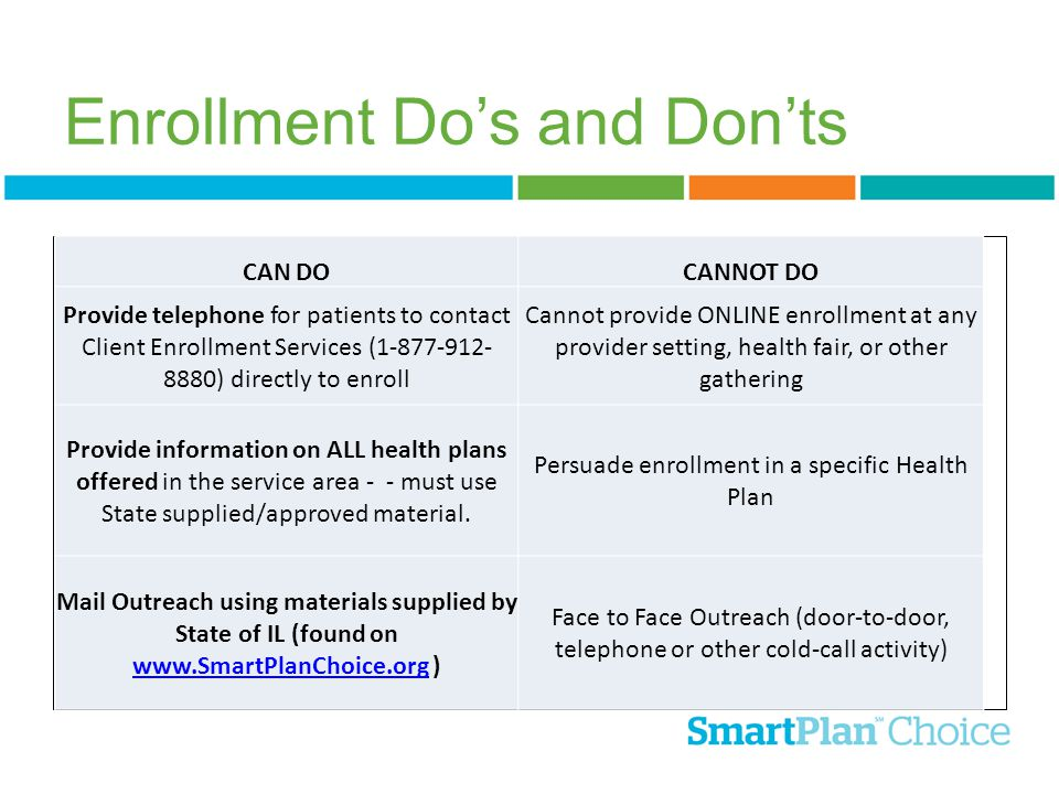 Enrollment Do's and Don'ts