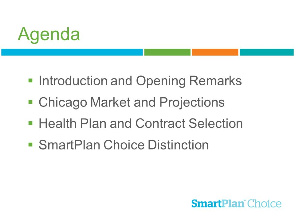 Agenda Introduction and Opening Remarks Chicago Market and Projections