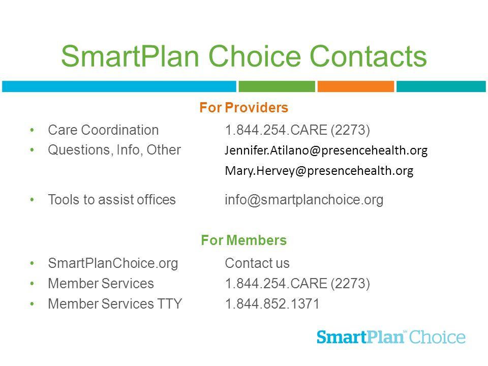 SmartPlan Choice Contacts