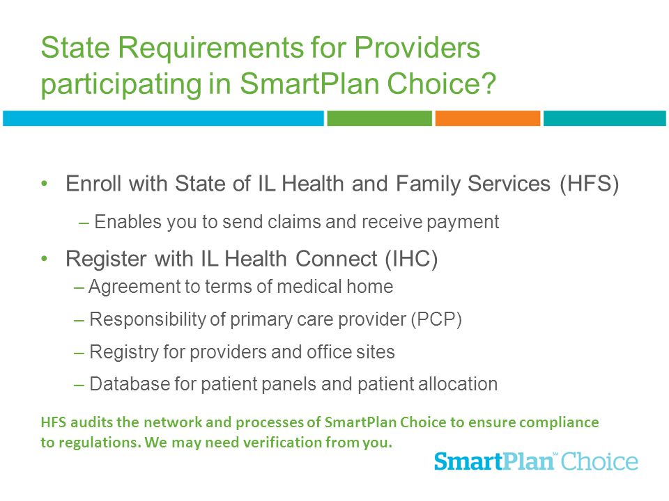State Requirements for Providers participating in SmartPlan Choice