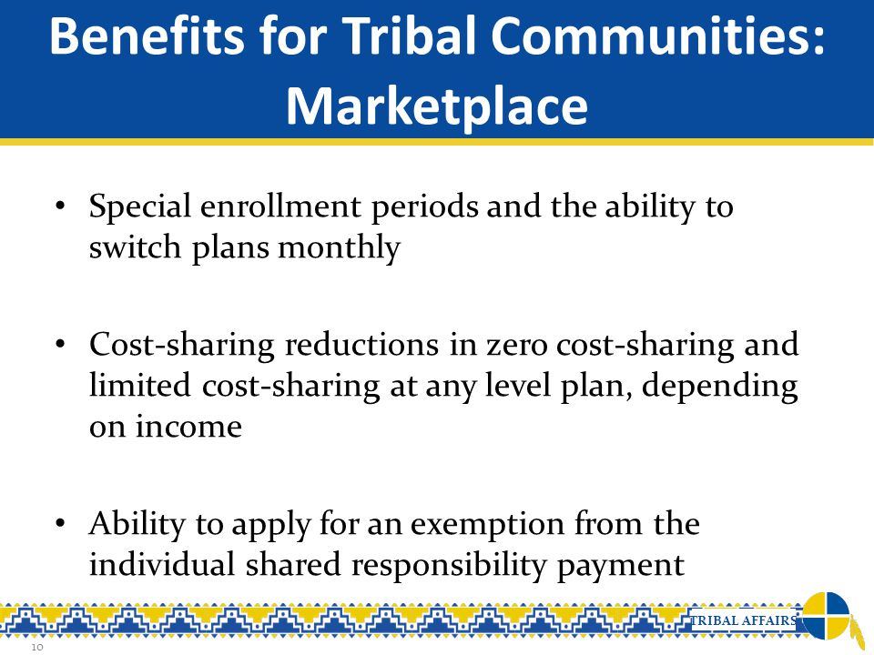 Benefits for Tribal Communities: Marketplace
