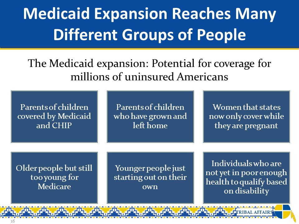 Medicaid Expansion Reaches Many Different Groups of People