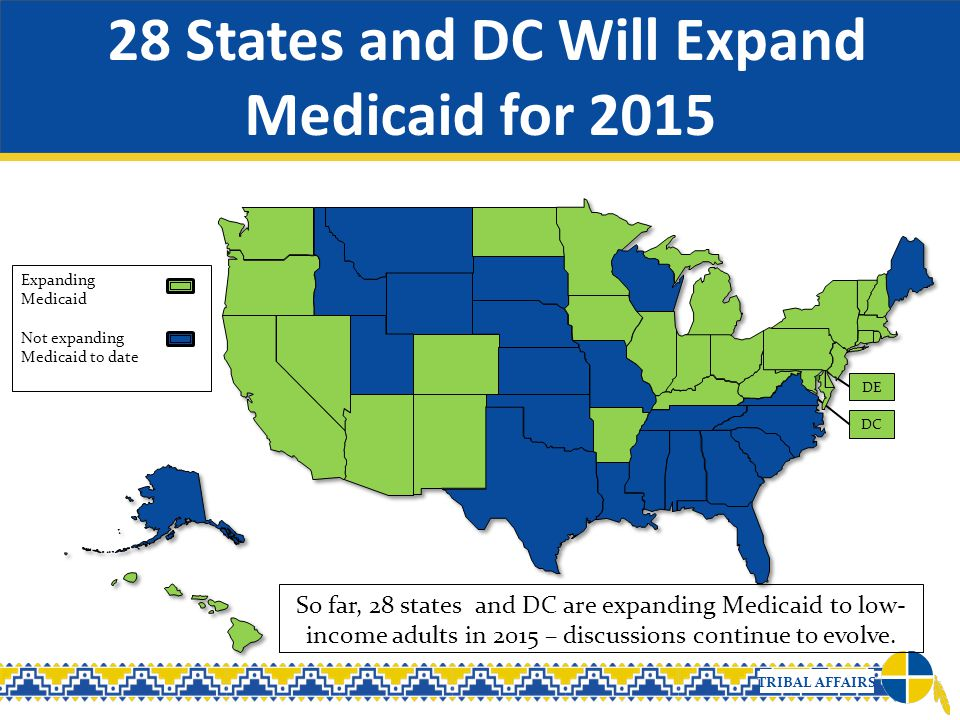 28 States and DC Will Expand Medicaid for 2015