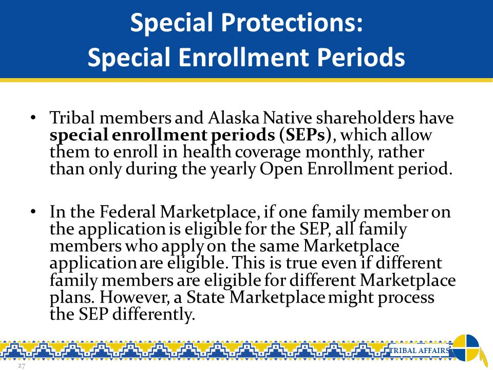 Special Protections: Special Enrollment Periods