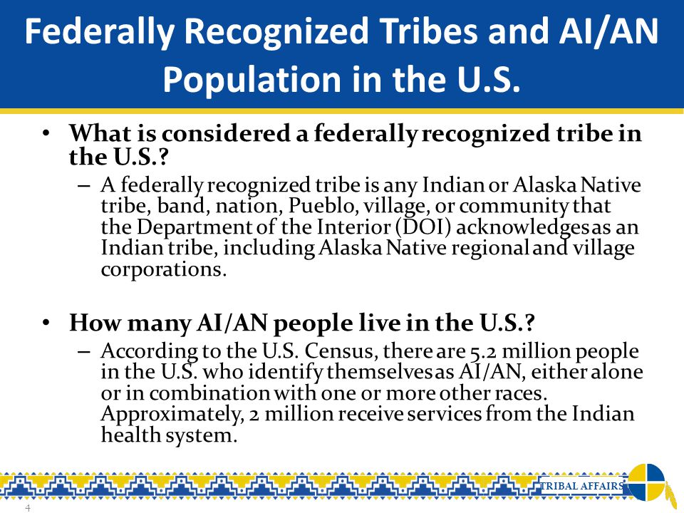 Federally Recognized Tribes and AI/AN Population in the U.S.