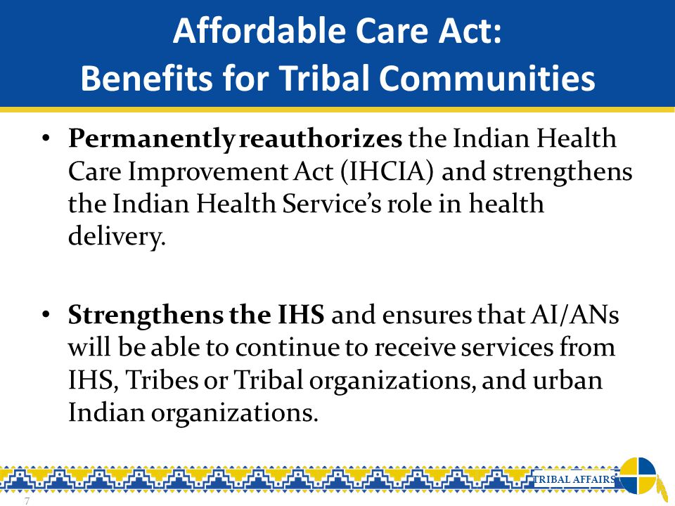 Affordable Care Act: Benefits for Tribal Communities