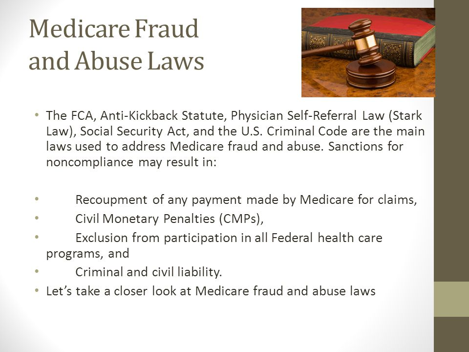Medicare Fraud and Abuse Laws