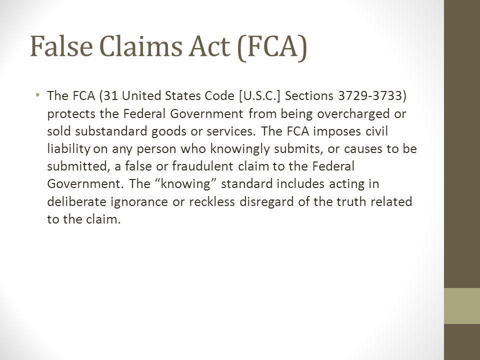 False Claims Act (FCA)