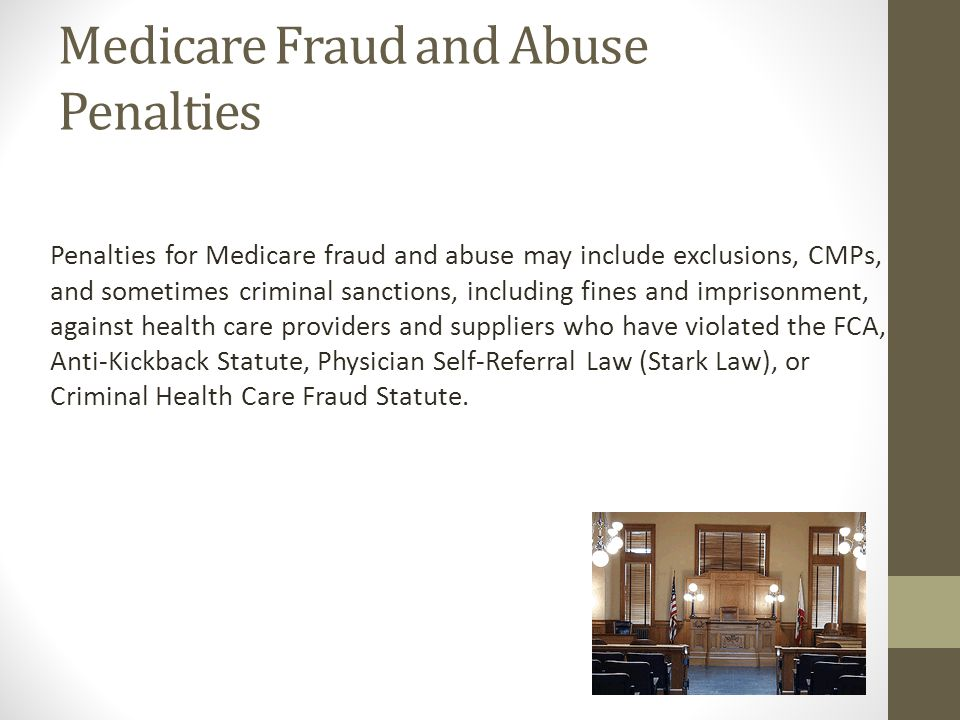 Medicare Fraud and Abuse Penalties