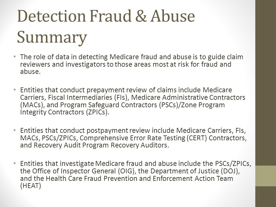 Detection Fraud & Abuse Summary