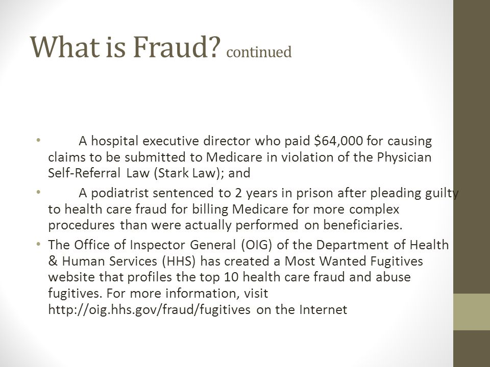 What is Fraud continued