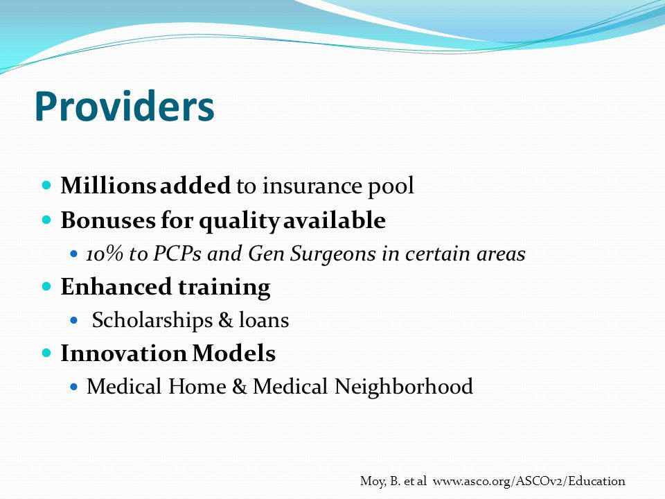 Providers Millions added to insurance pool