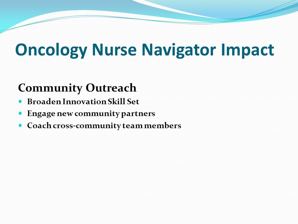 Oncology Nurse Navigator Impact