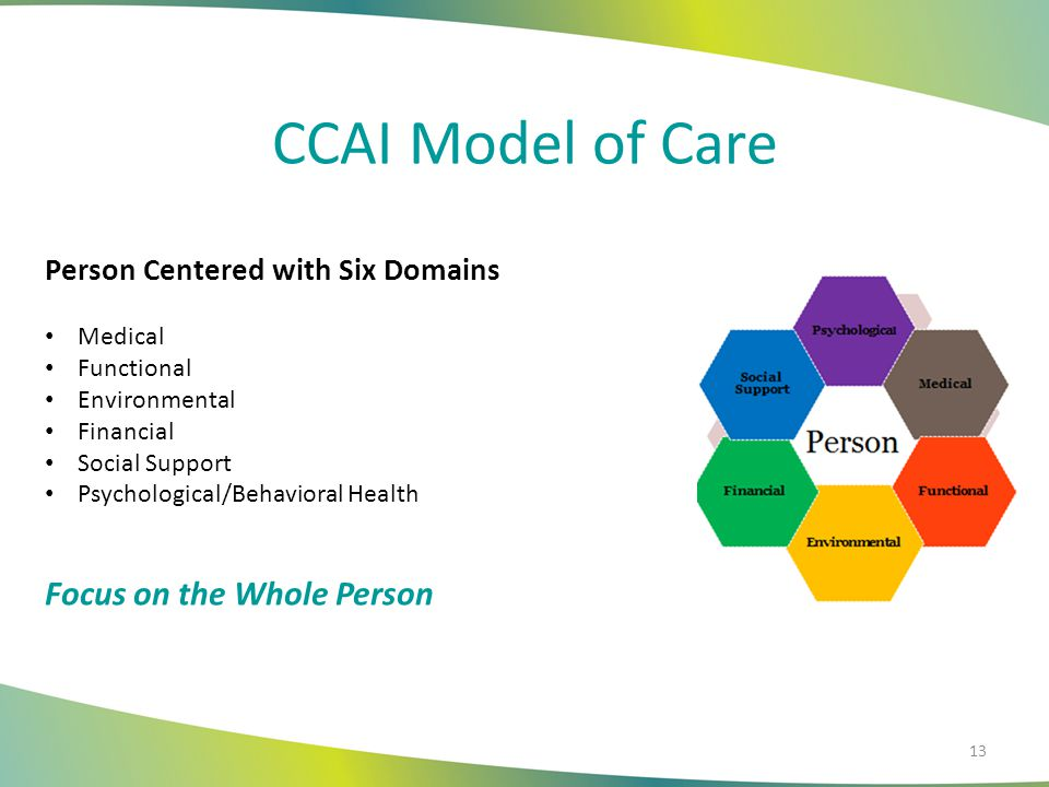 CCAI Model of Care Focus on the Whole Person