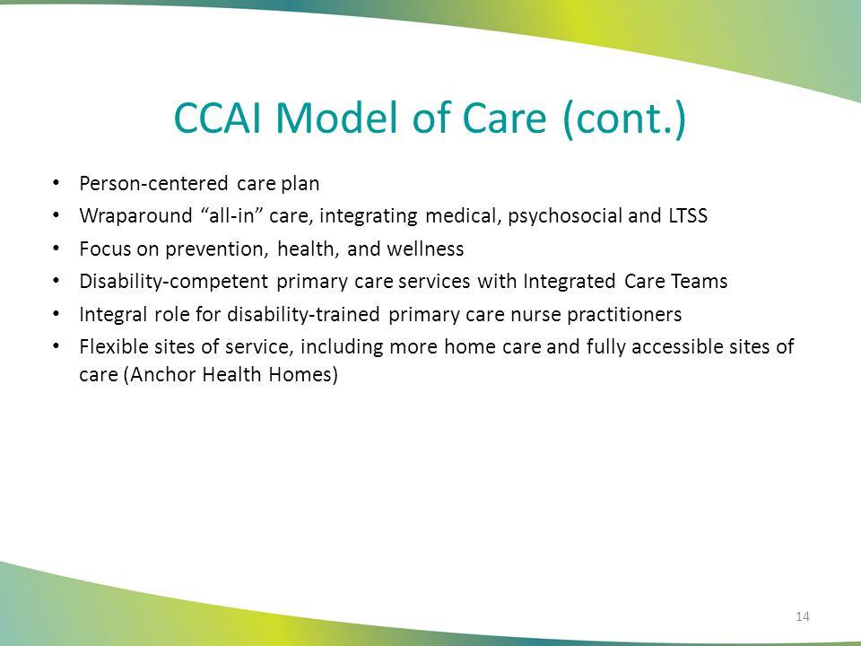 CCAI Model of Care (cont.)