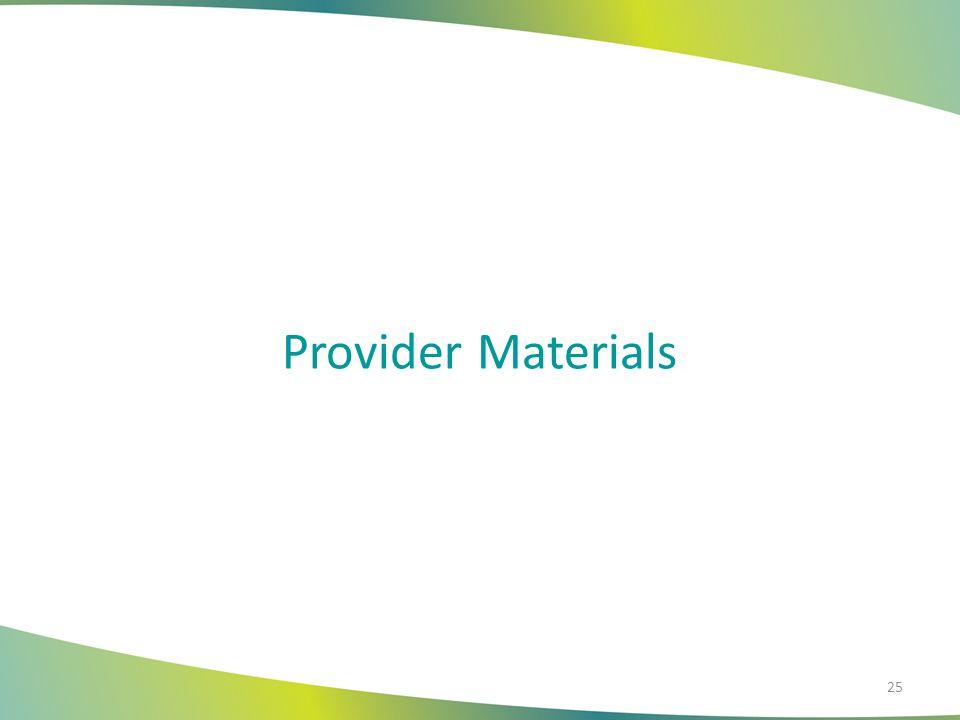 Provider Materials