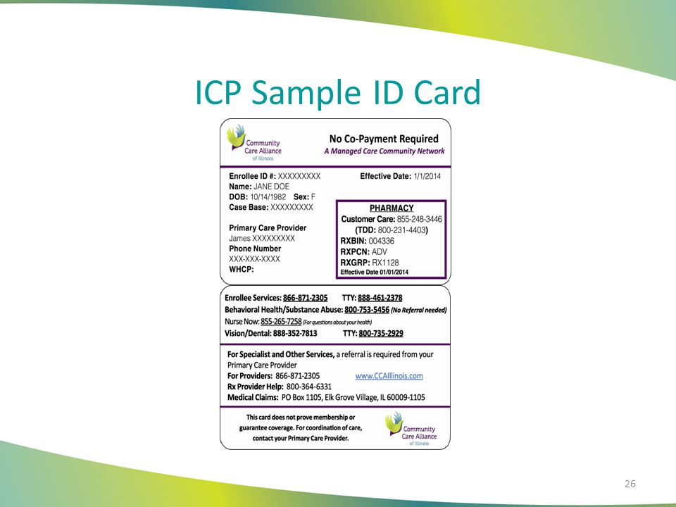 ICP Sample ID Card