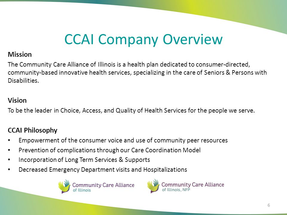 CCAI Company Overview Mission Vision CCAI Philosophy