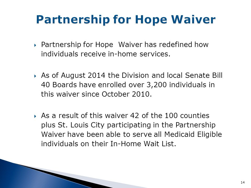 Partnership for Hope Waiver