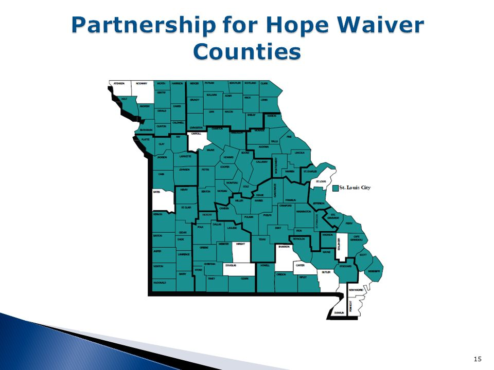 Partnership for Hope Waiver Counties
