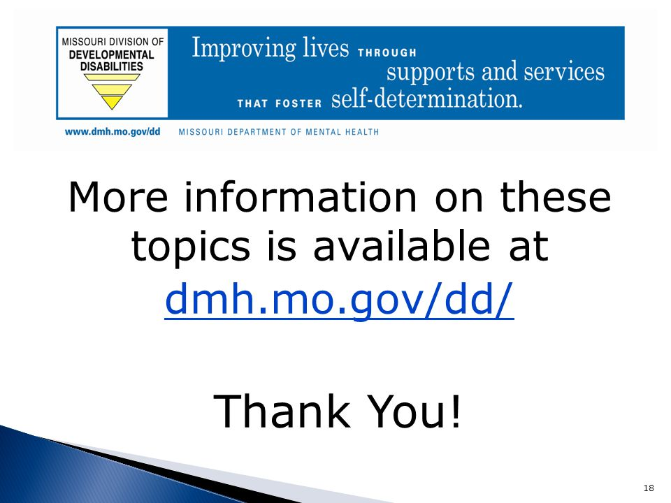 More information on these topics is available at