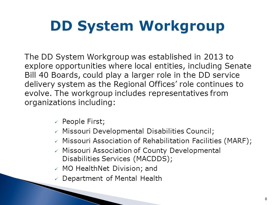 DD System Workgroup